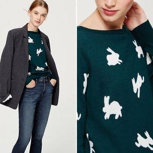 LOFT Rabbit Pattern Sweater Medium